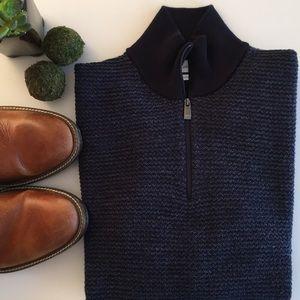 CALVIN KLEIN Quarter-Zip Pullover Sweater
